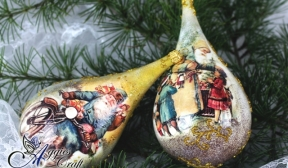 Decoupage Tutorial - Christmas Tear Drop Baubles - DIY Tutorial