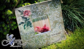 Vintage Mirror with Rose